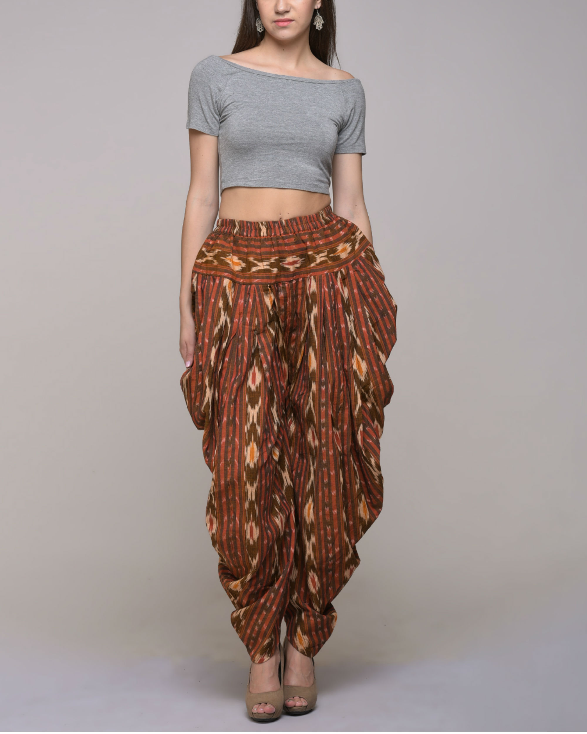 Ikat cotton patiyala pant