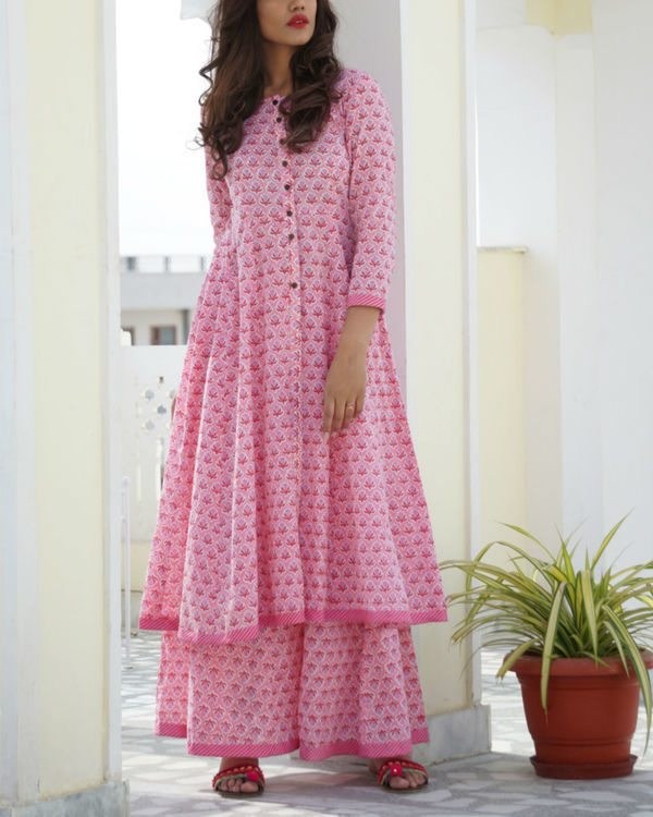 Pink kalidar sharara set
