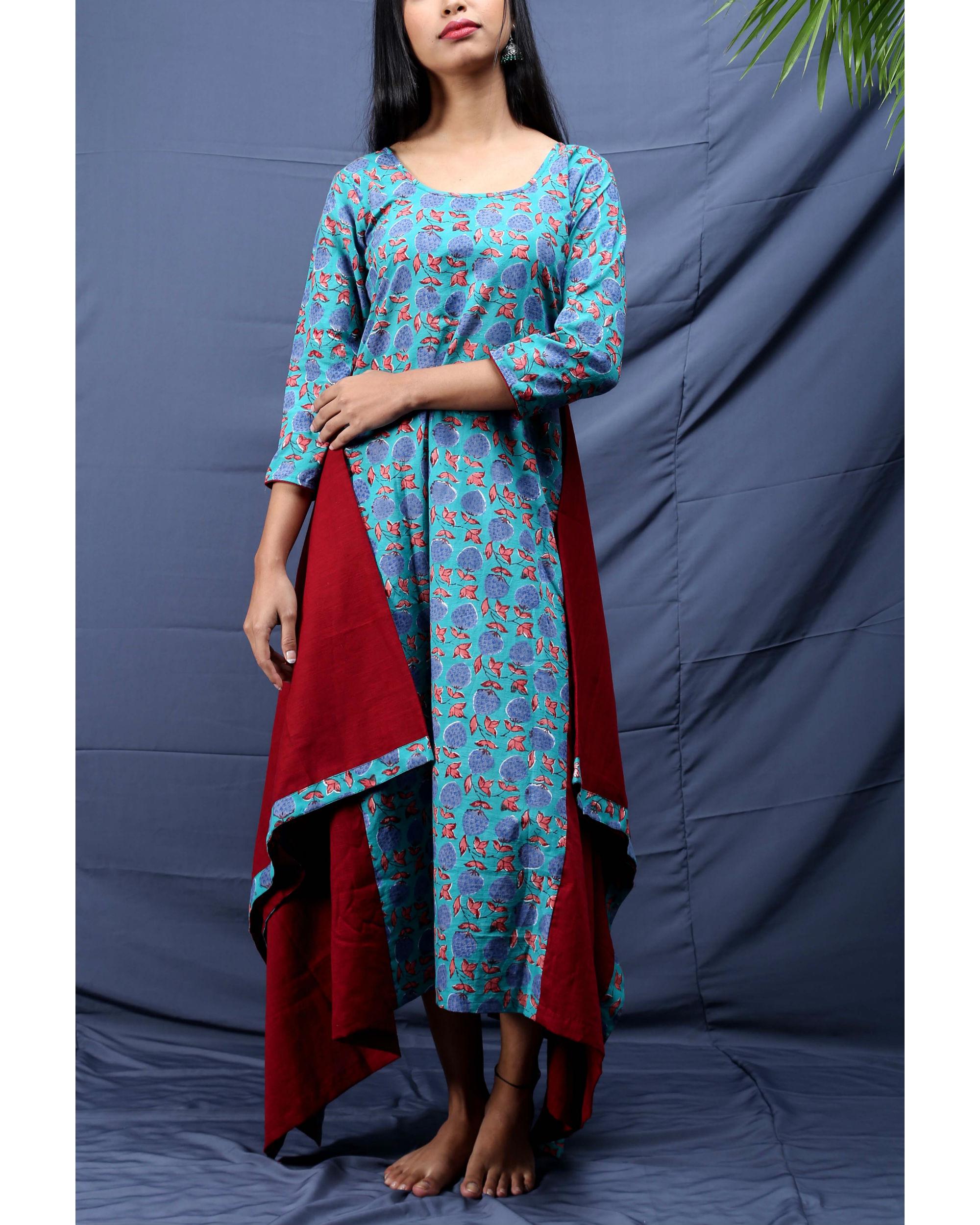Chowkdi block printed dress