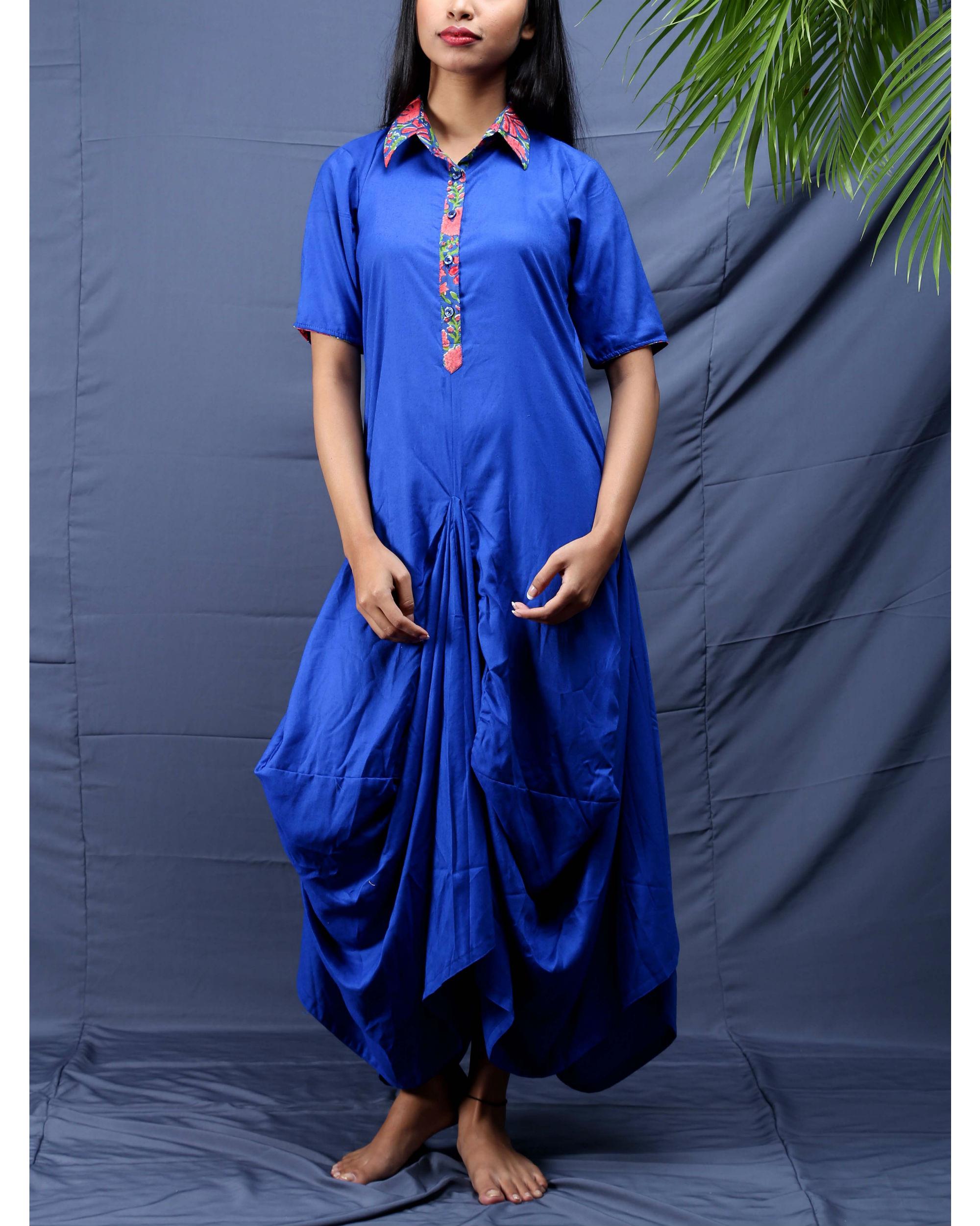 Blue jhabla dress