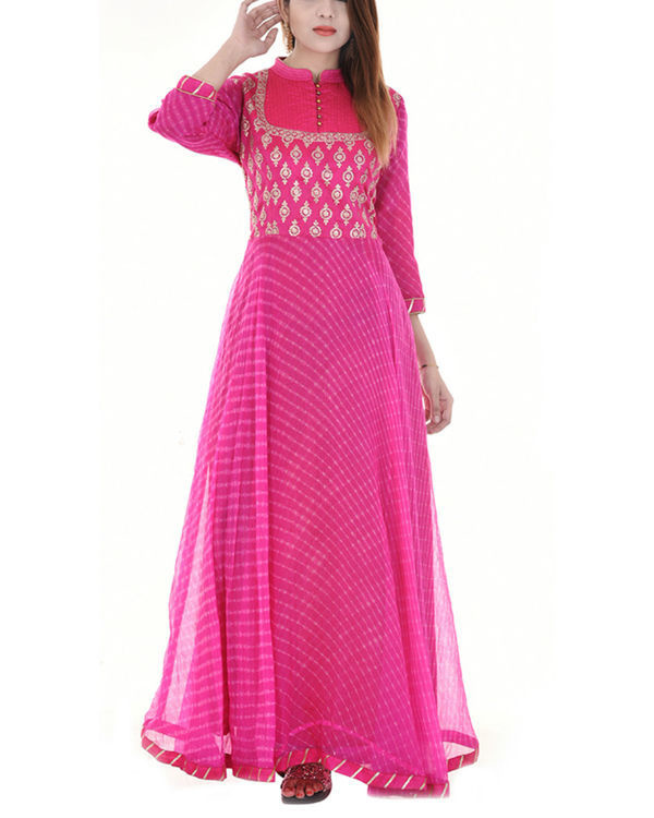 Magenta leheriya dress
