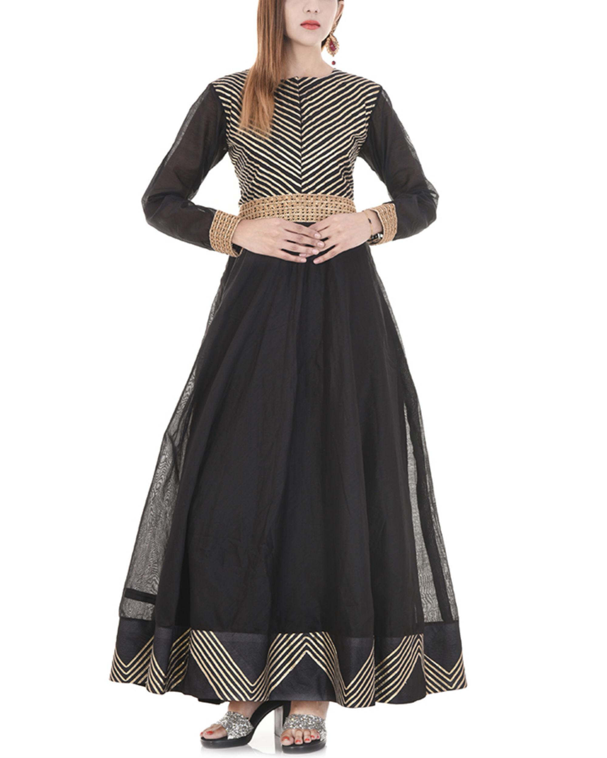 Black gota dress