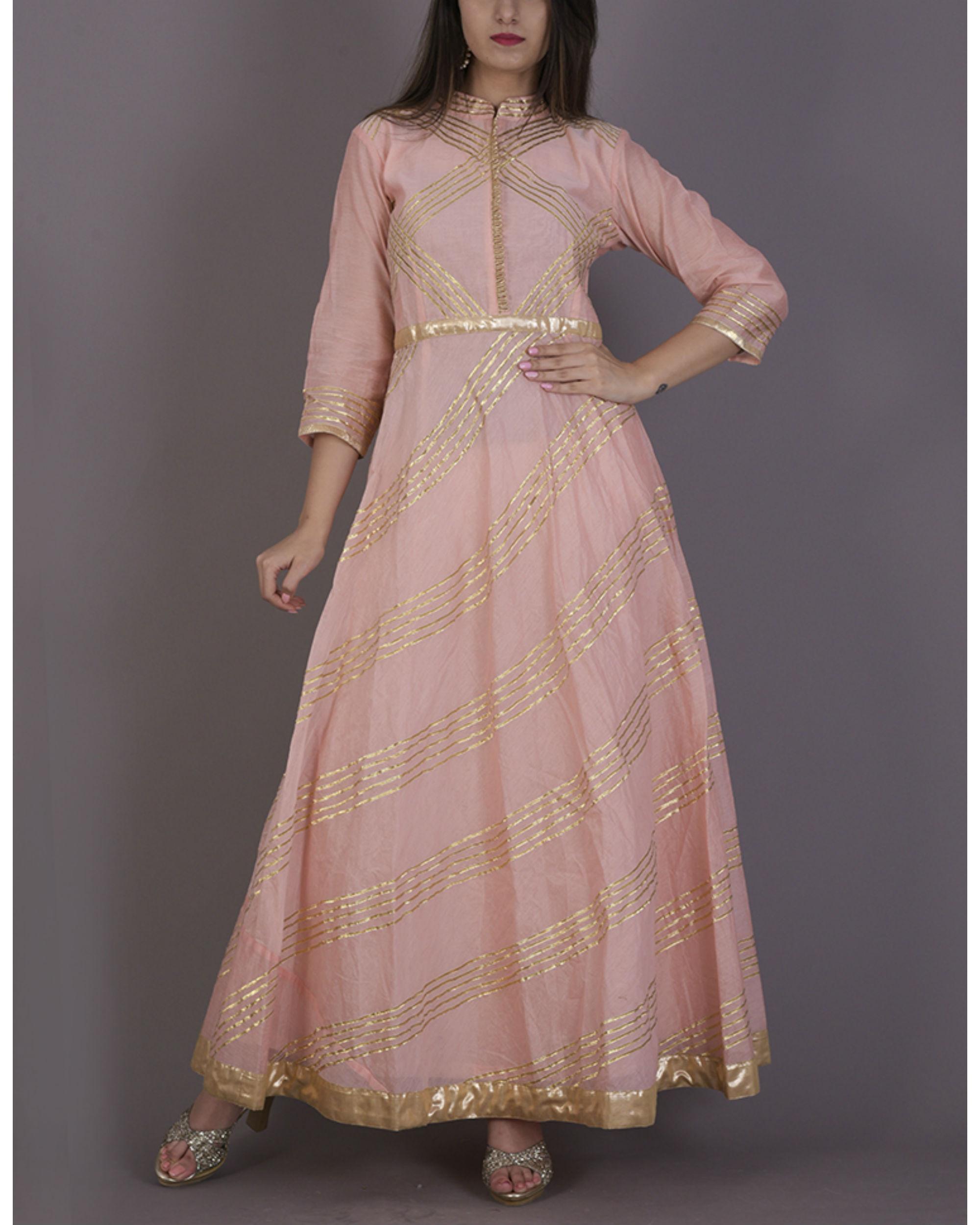Peach gota dress