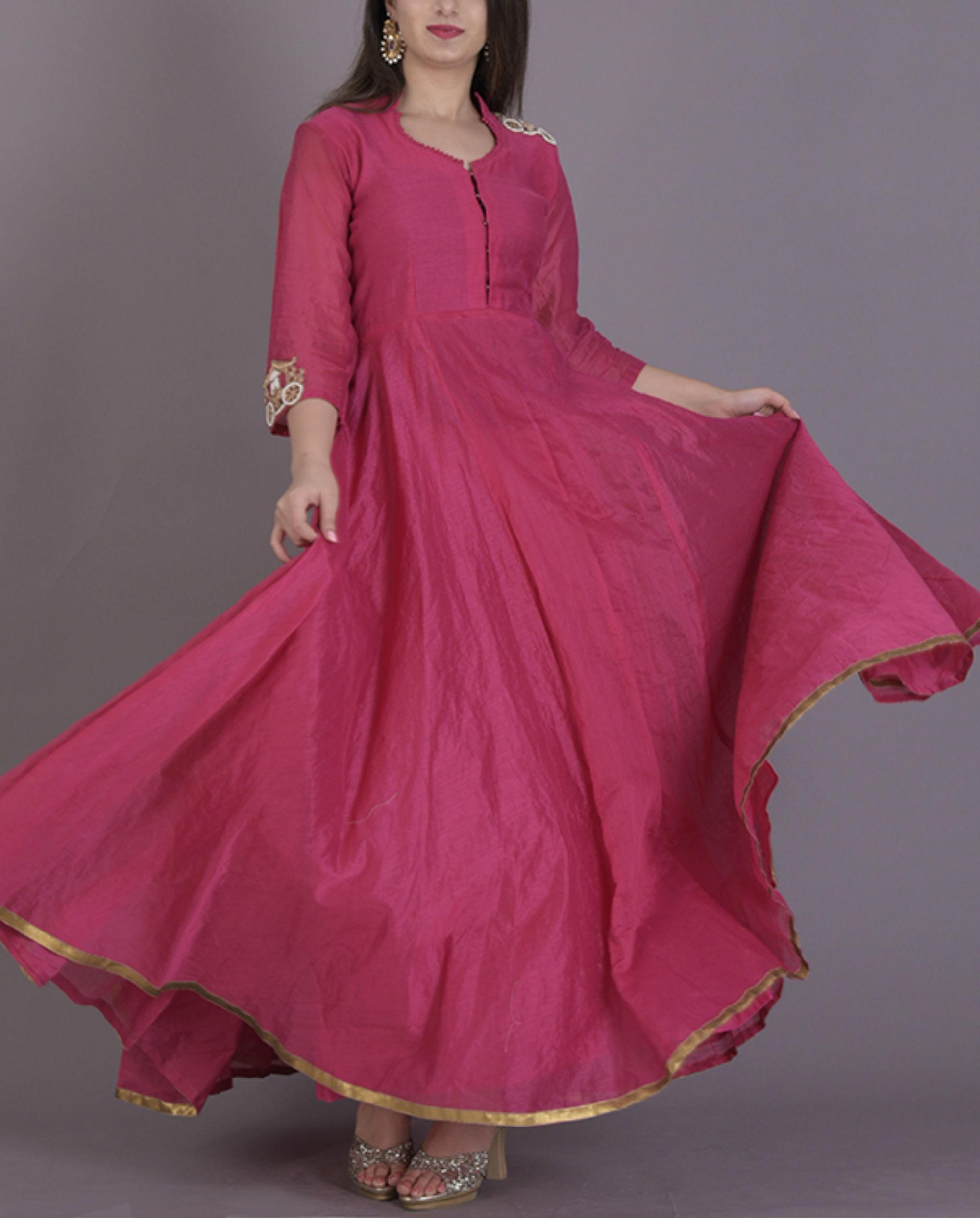 f902793798 Pink anarkali dress by Rangpur | The Secret Label