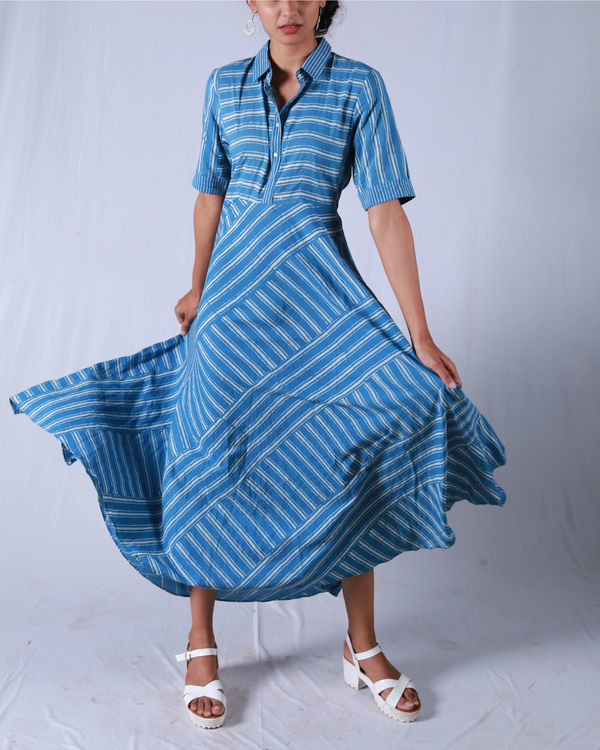 Blue umbrella yoke dress