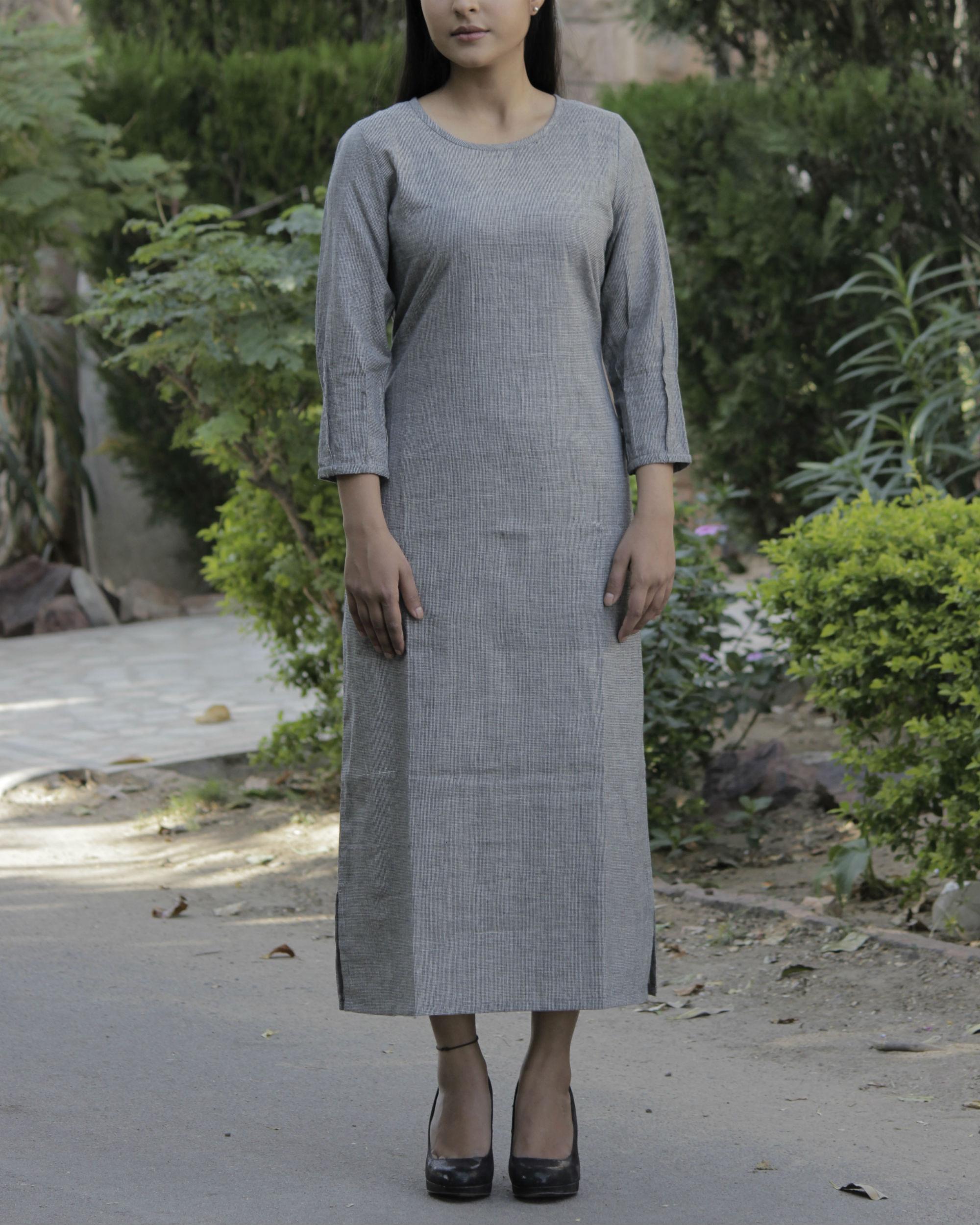 Grey parallel dress