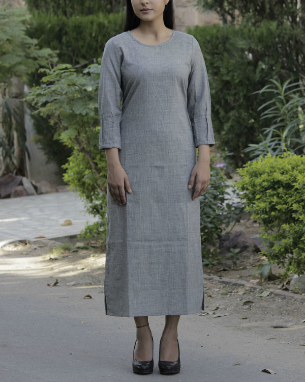 Grey parallel dress