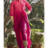 Thumb bright pink kurta cape and pants  set of two 2