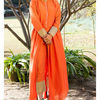 Thumb orange kurta cape and pants  set of two 1