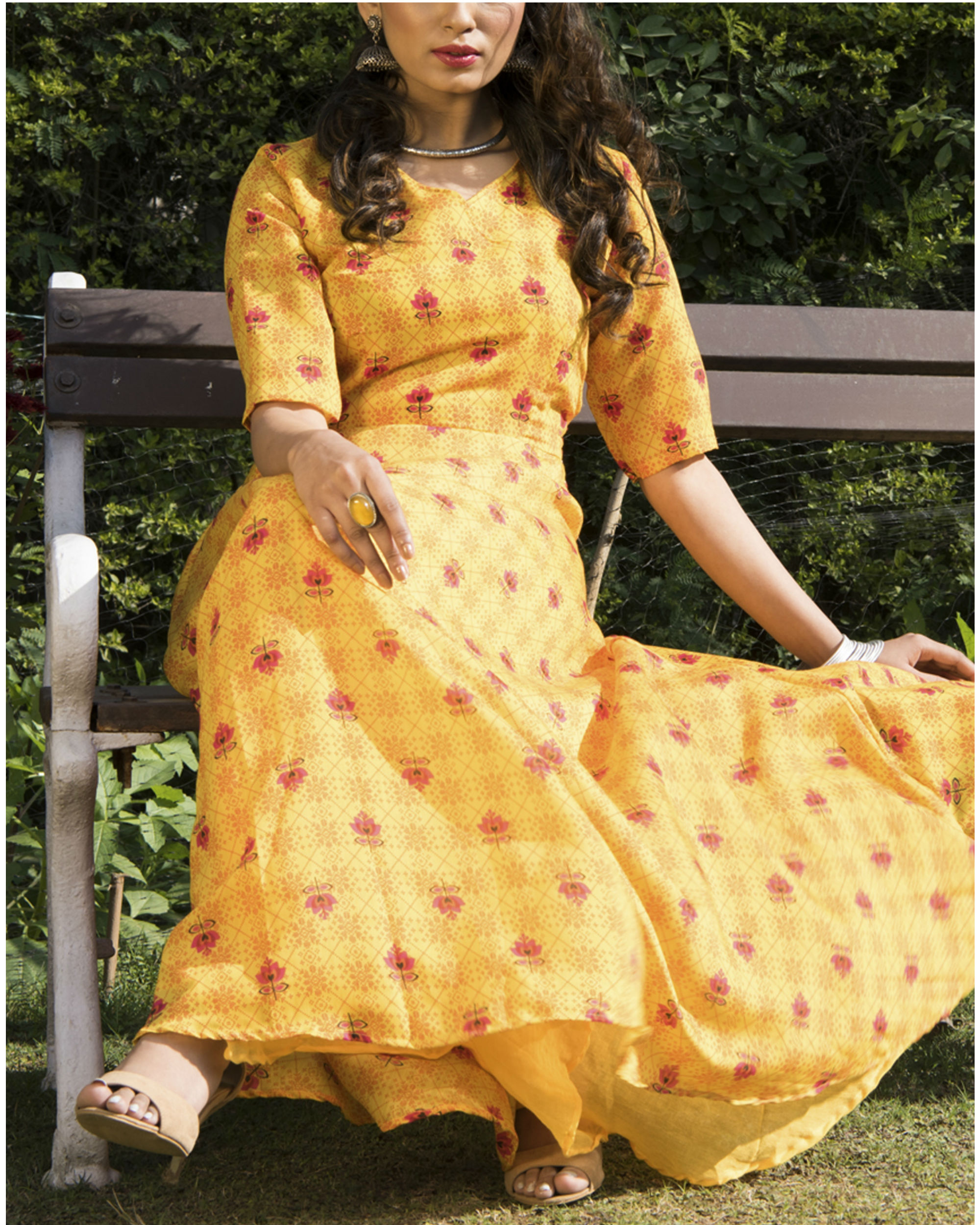 Aishi chanderi dress