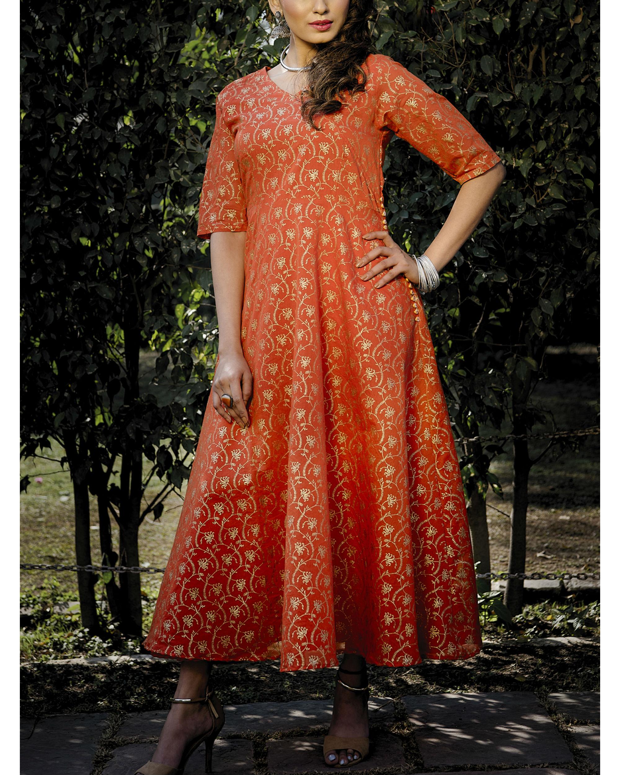 Arjama chanderi dress