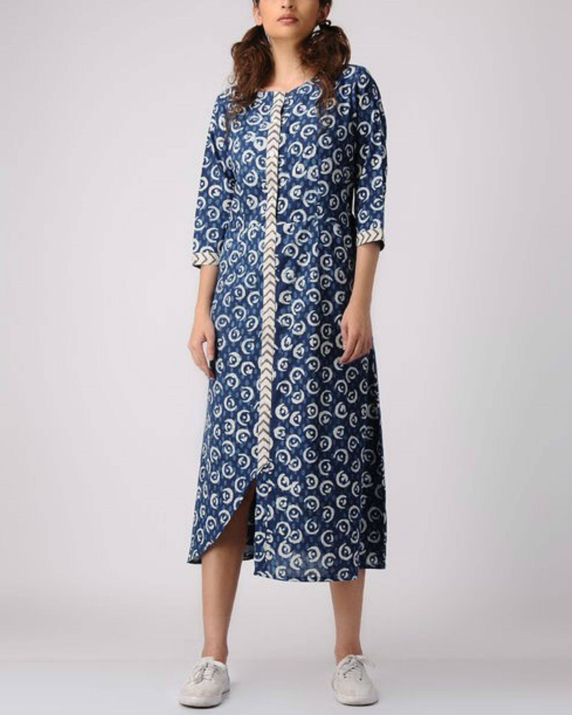 Indigo apple dress