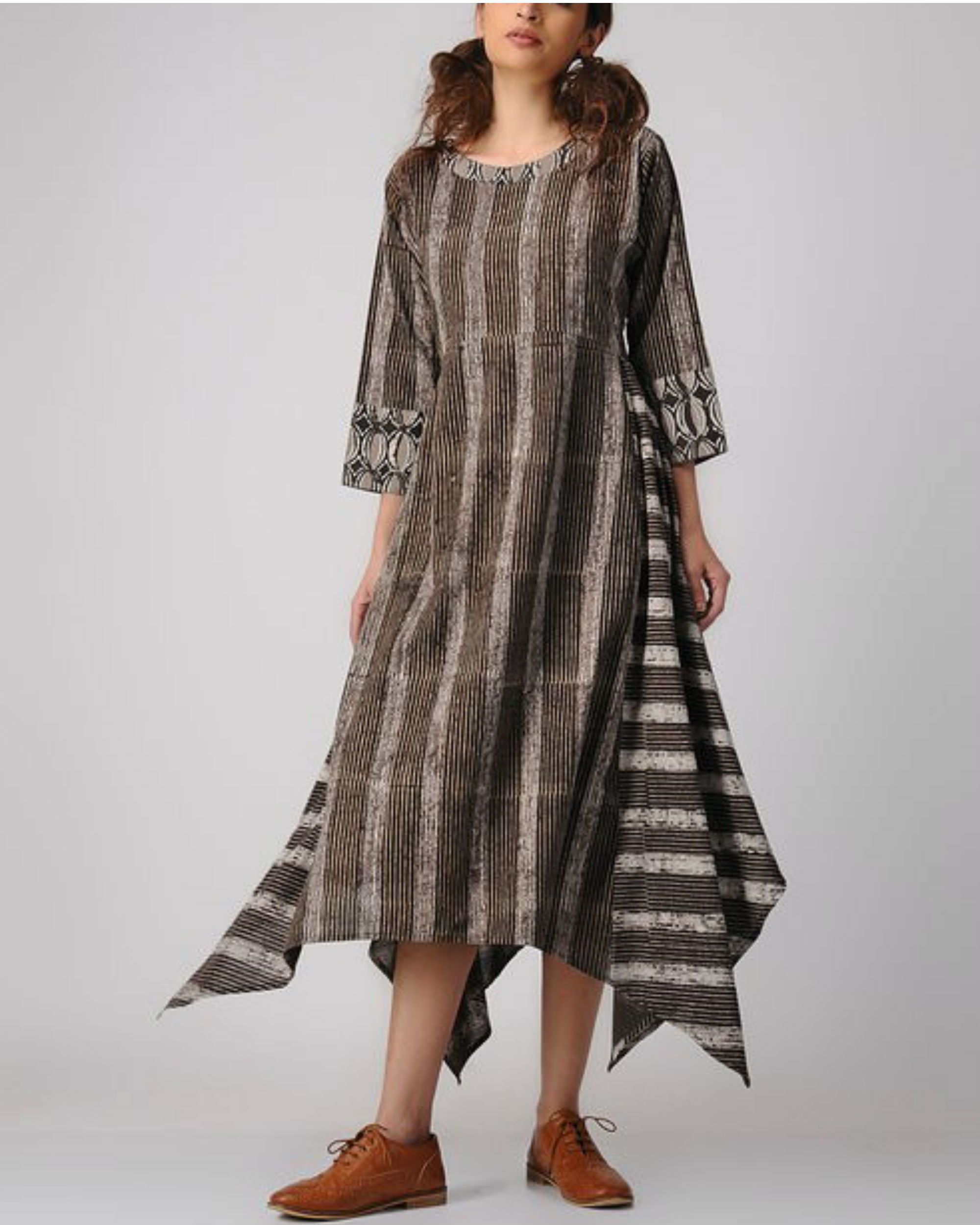 Wooden asymmetric dress