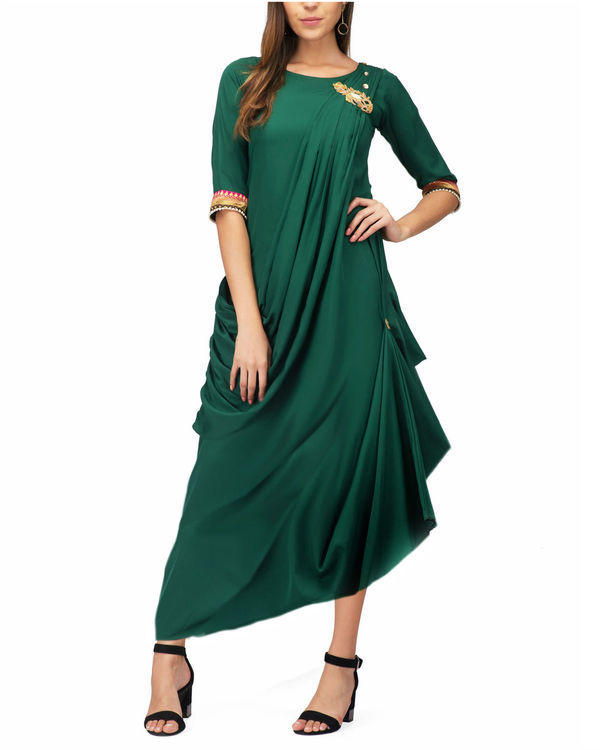Green drape tunic