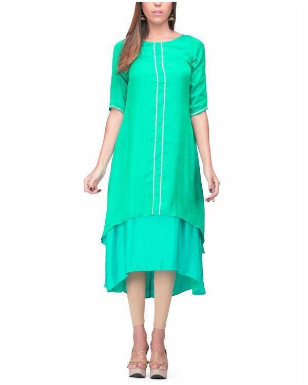 Green aqua layer dress