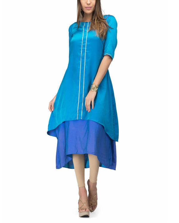 Shades of blue layer dress