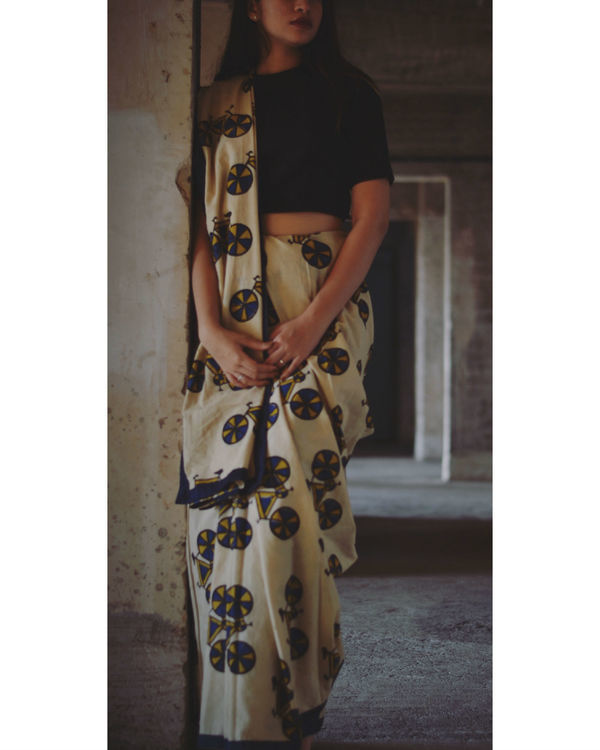 Cycle printed saree