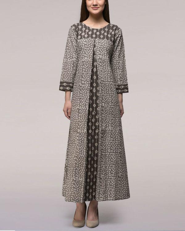Ash black dabu cotton dress
