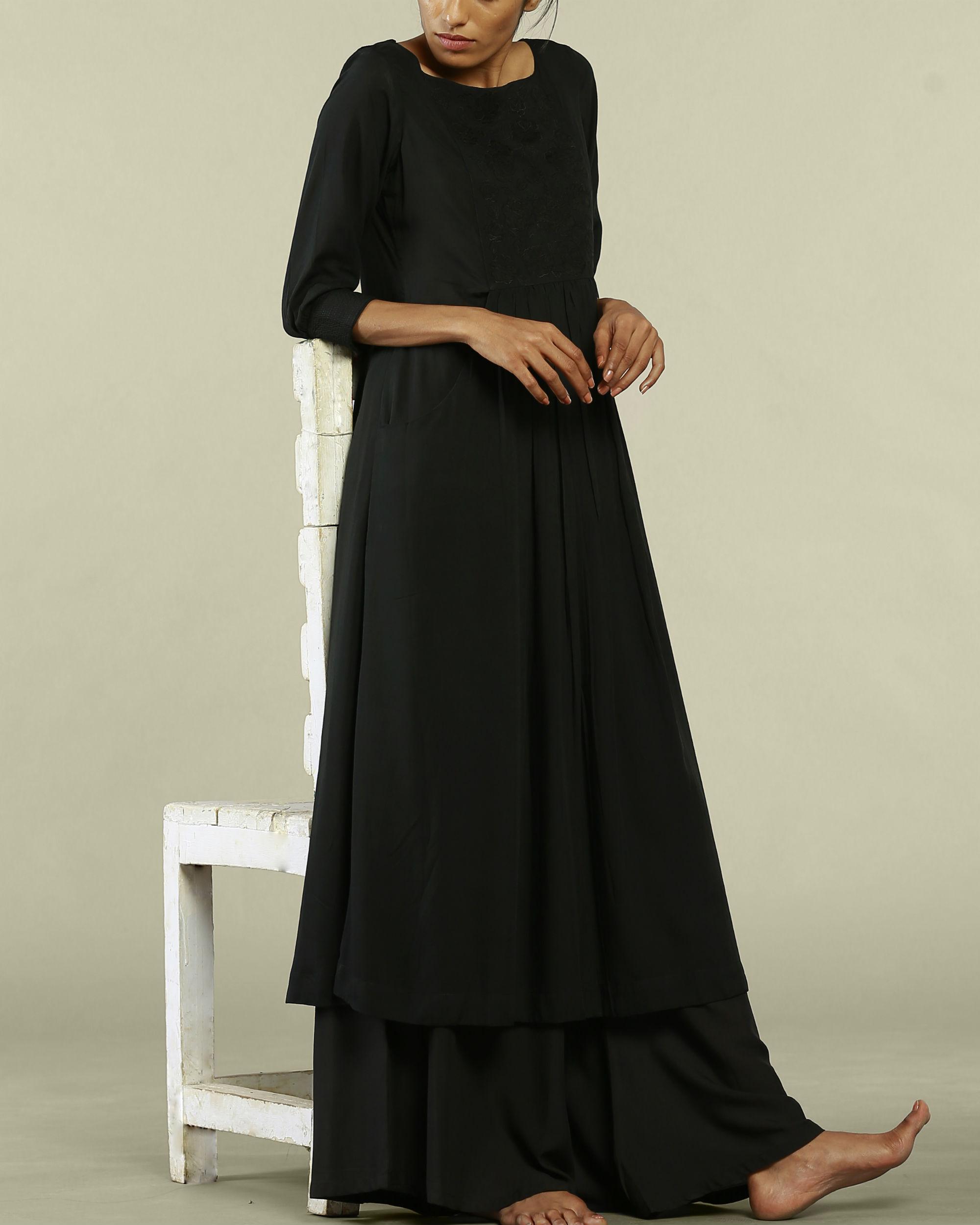 Black dress style tunic