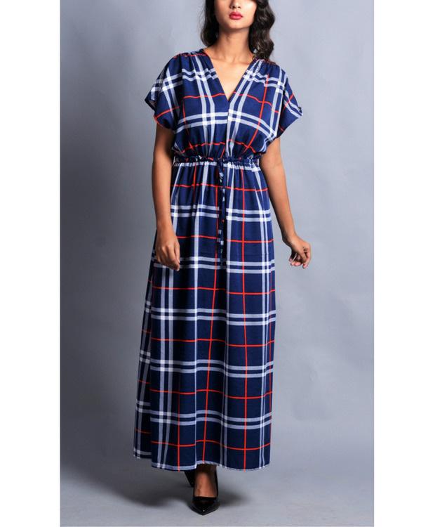 Vintage checked drape