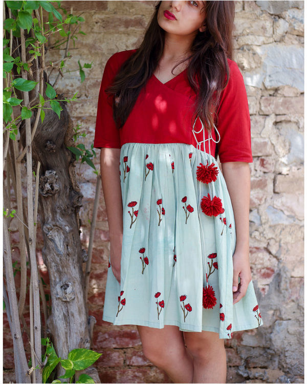 Opium poppy angrakha dress