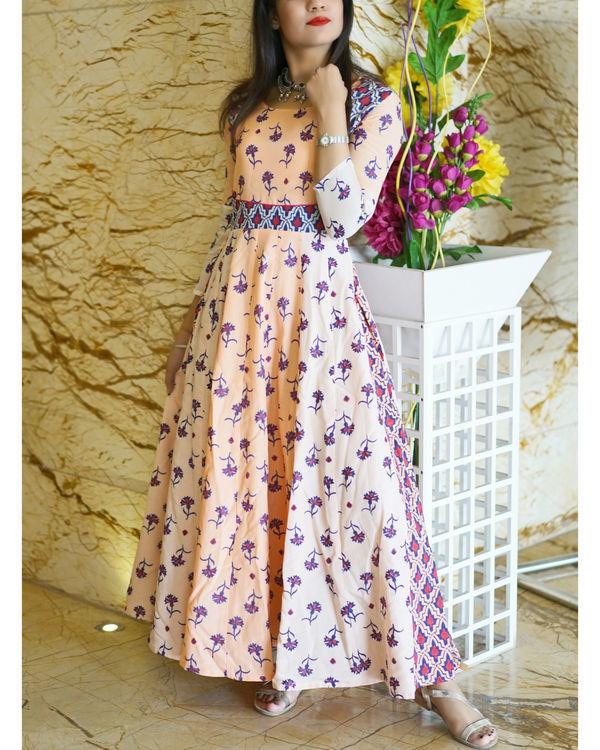 Peach cotton silk gown