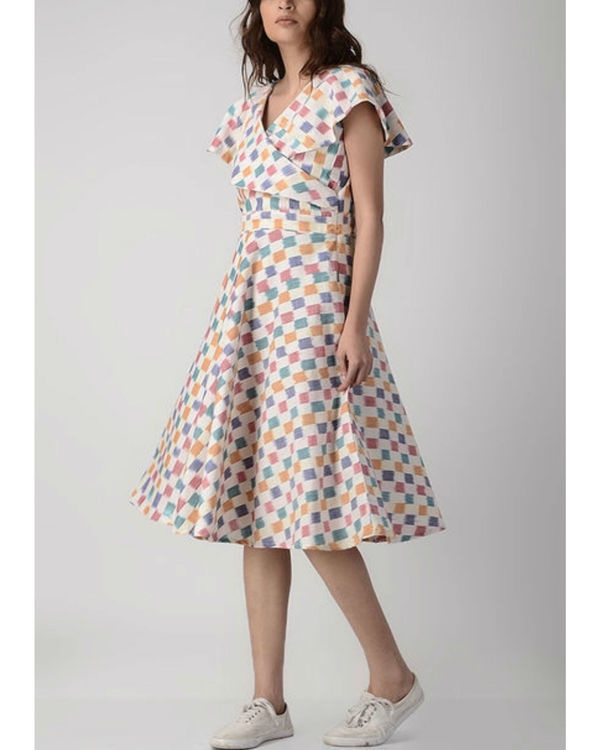 Candy shades overlap dress