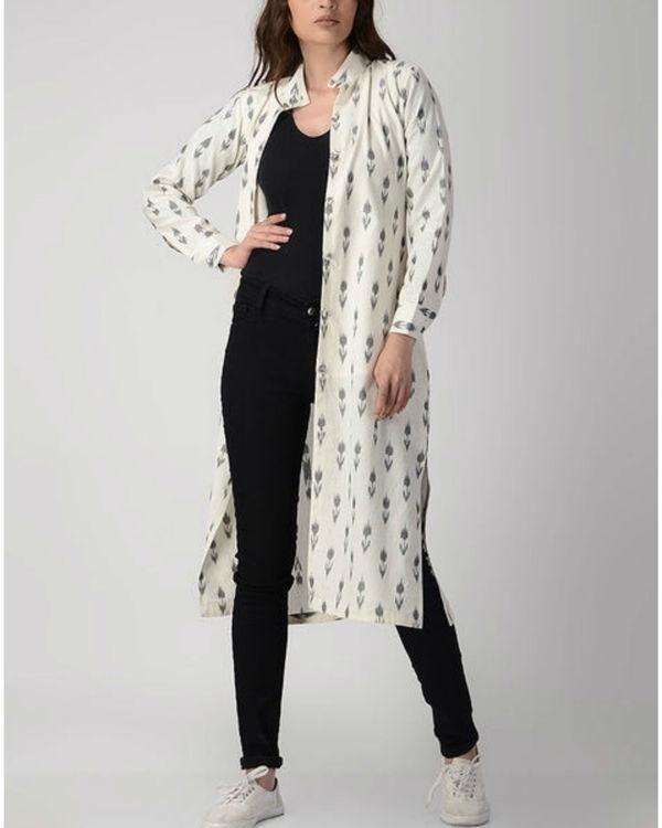 White longline shirt jacket