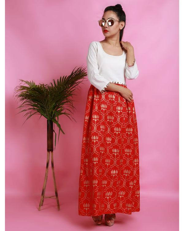 Red thaamara dress