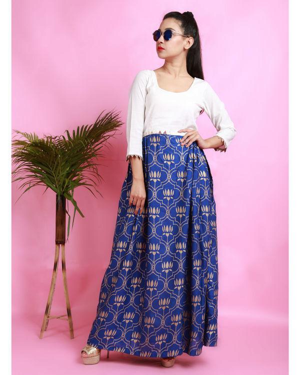 Blue thaamarai dress