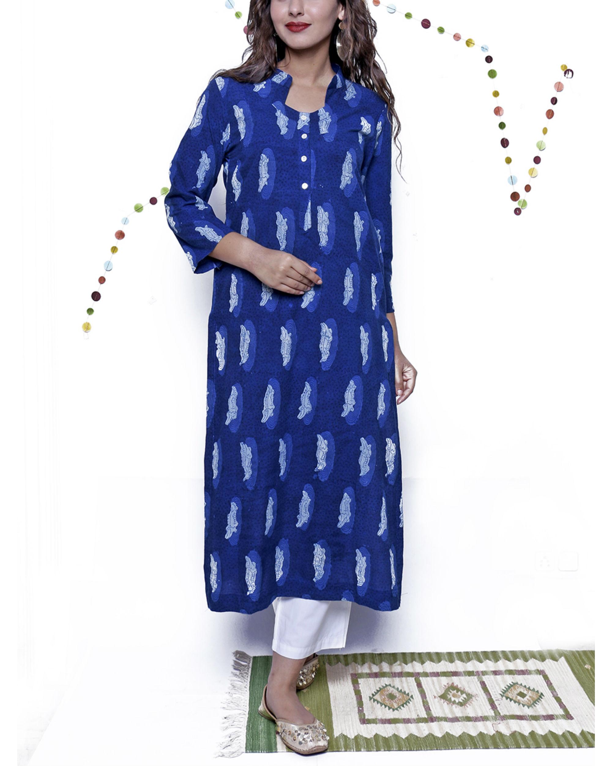 Indigo croc tunic