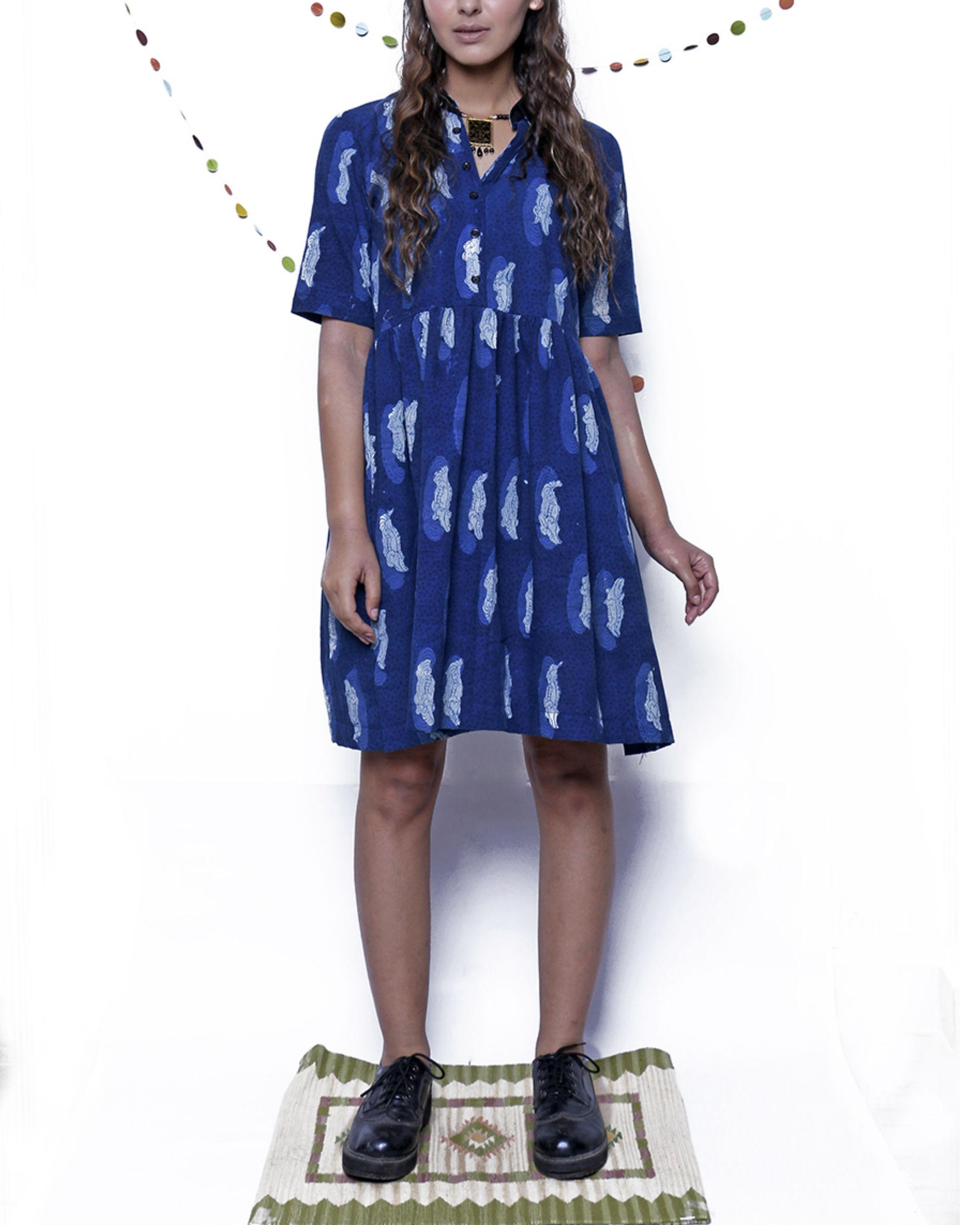 Indigo croc dress