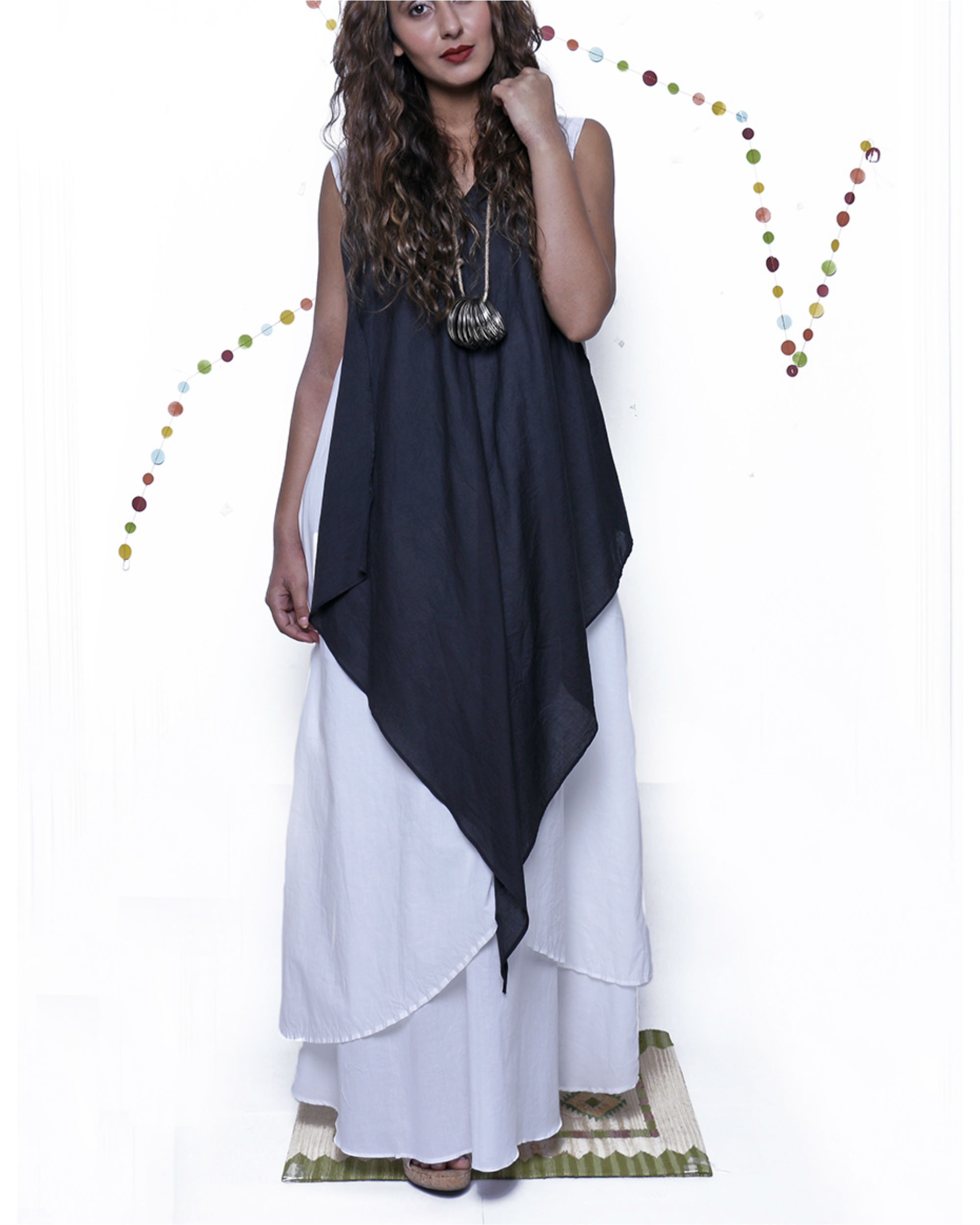 Colorblock long gown