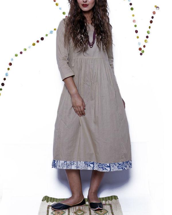 Blue border summer dress