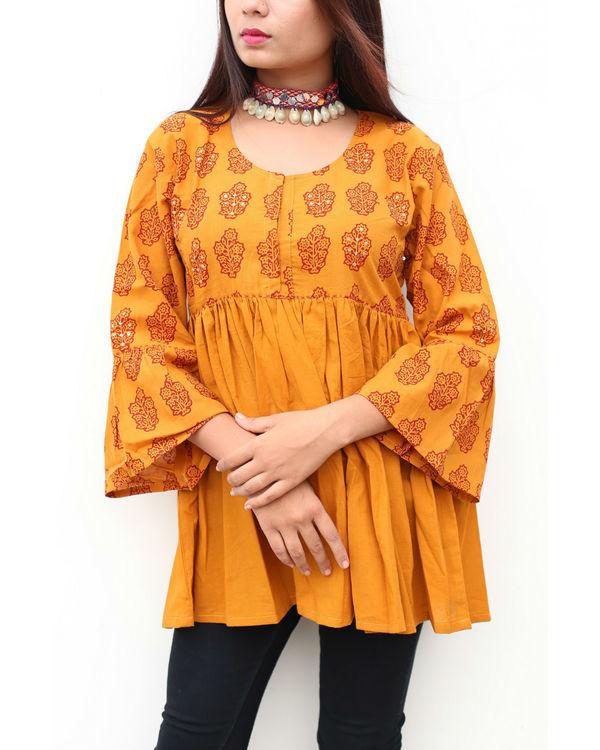 Haldi chandan gathered boho top