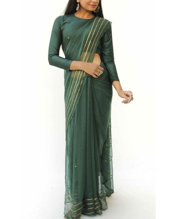 Emerald chiffon saree