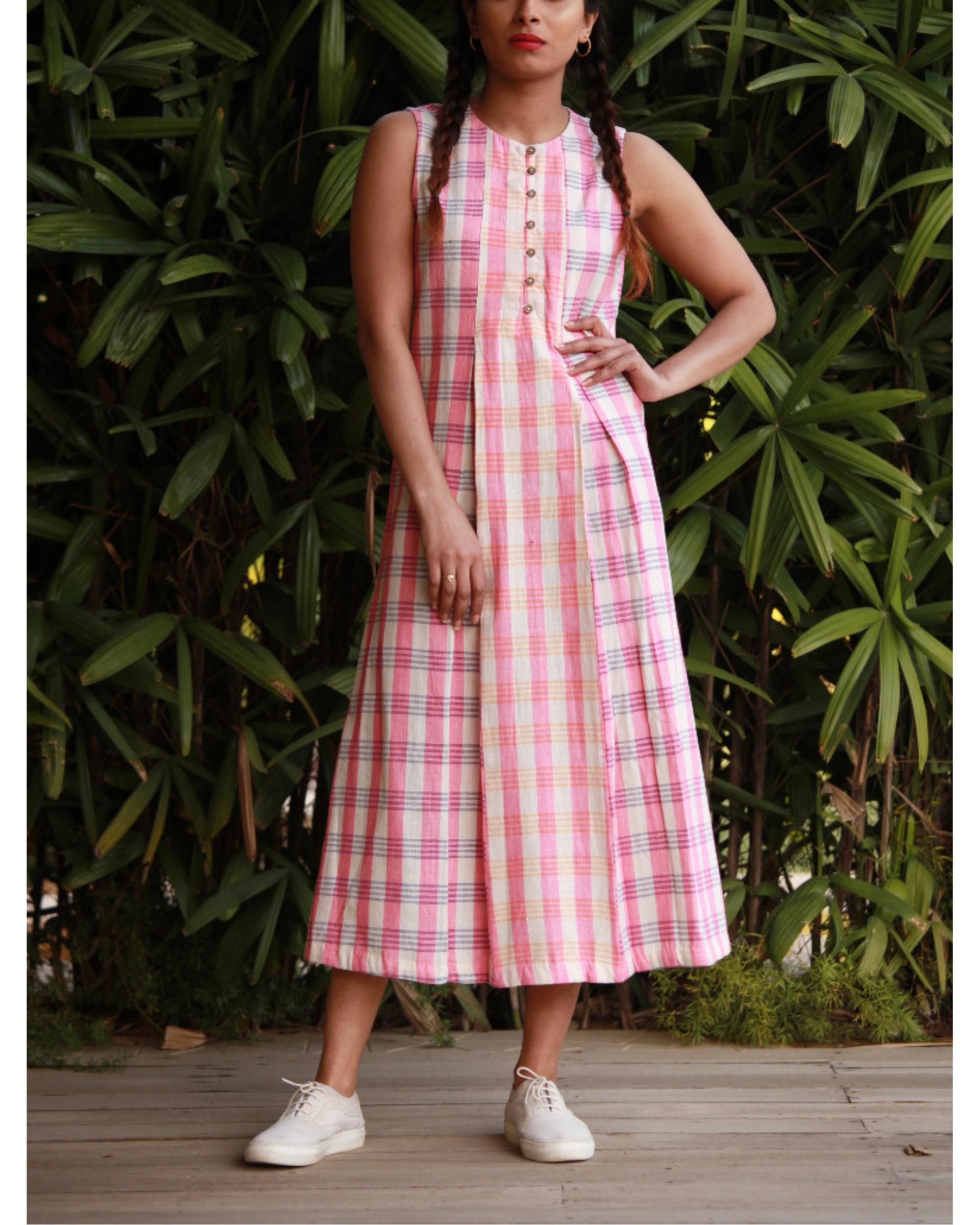 Candy pink khadi tunic