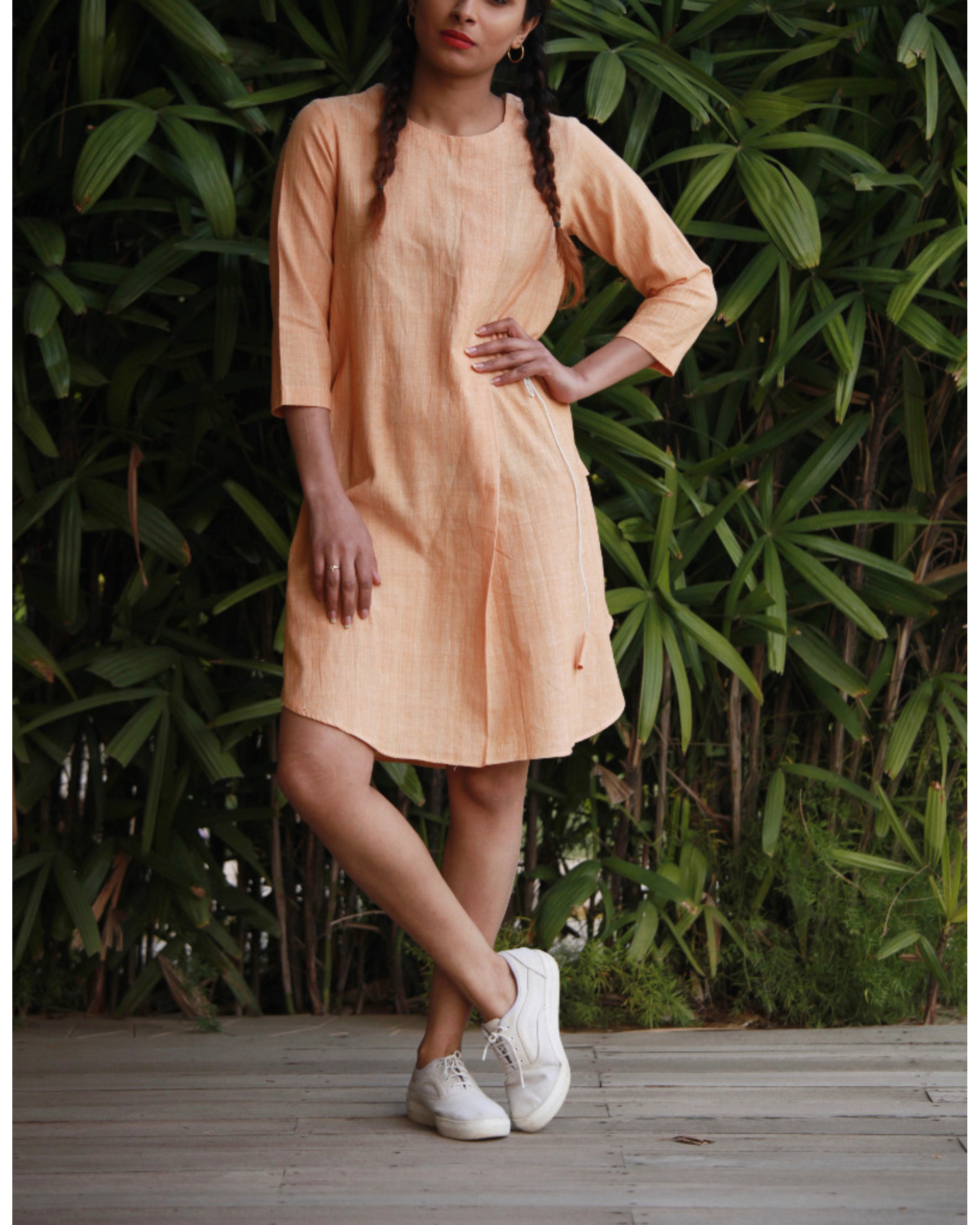 Butterscotch drawstring tunic