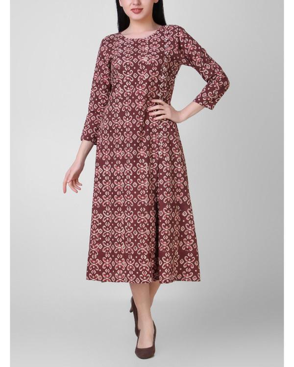 Dabu side pleated dress