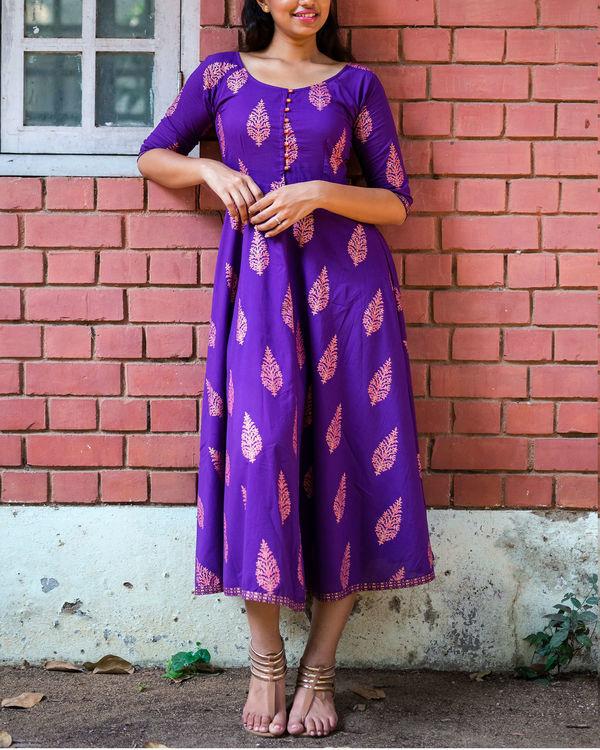 Purple gold boota dress