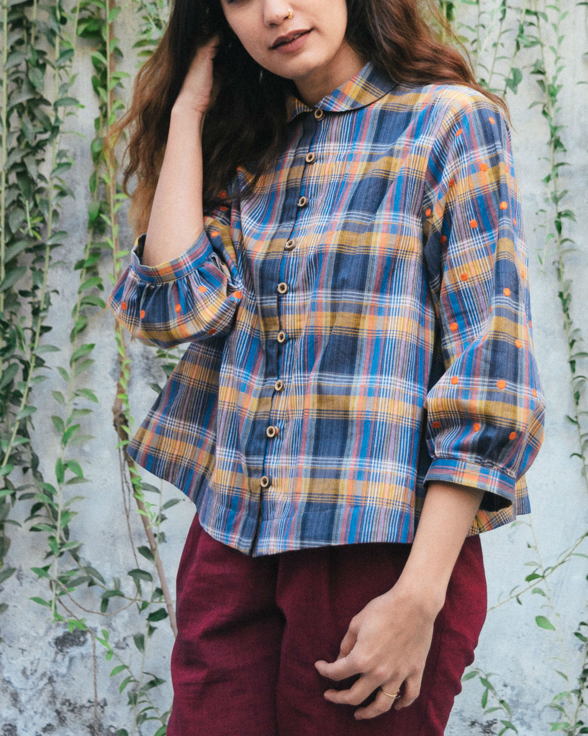 Multicolor block shirt