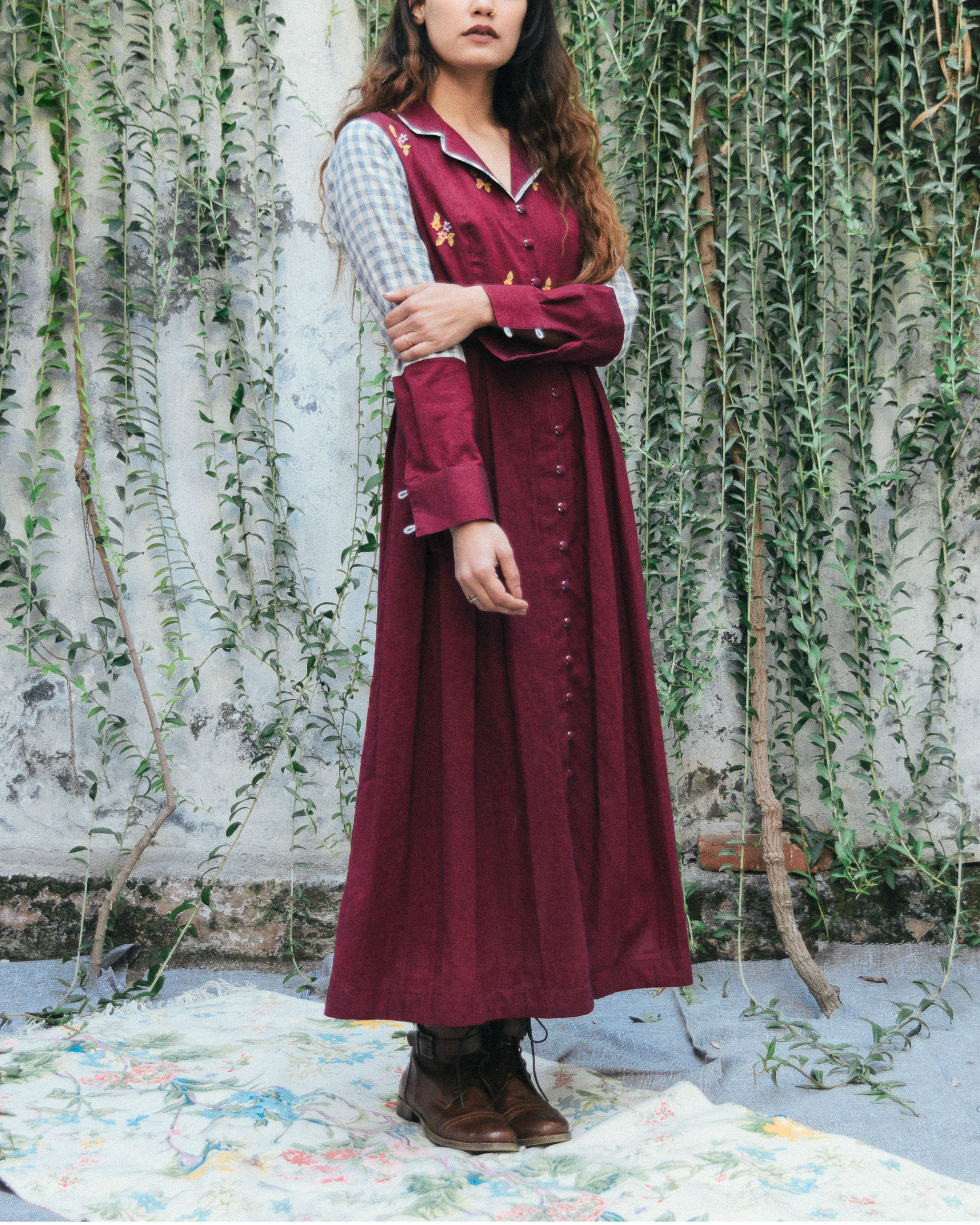 Merlot evening jacket dress