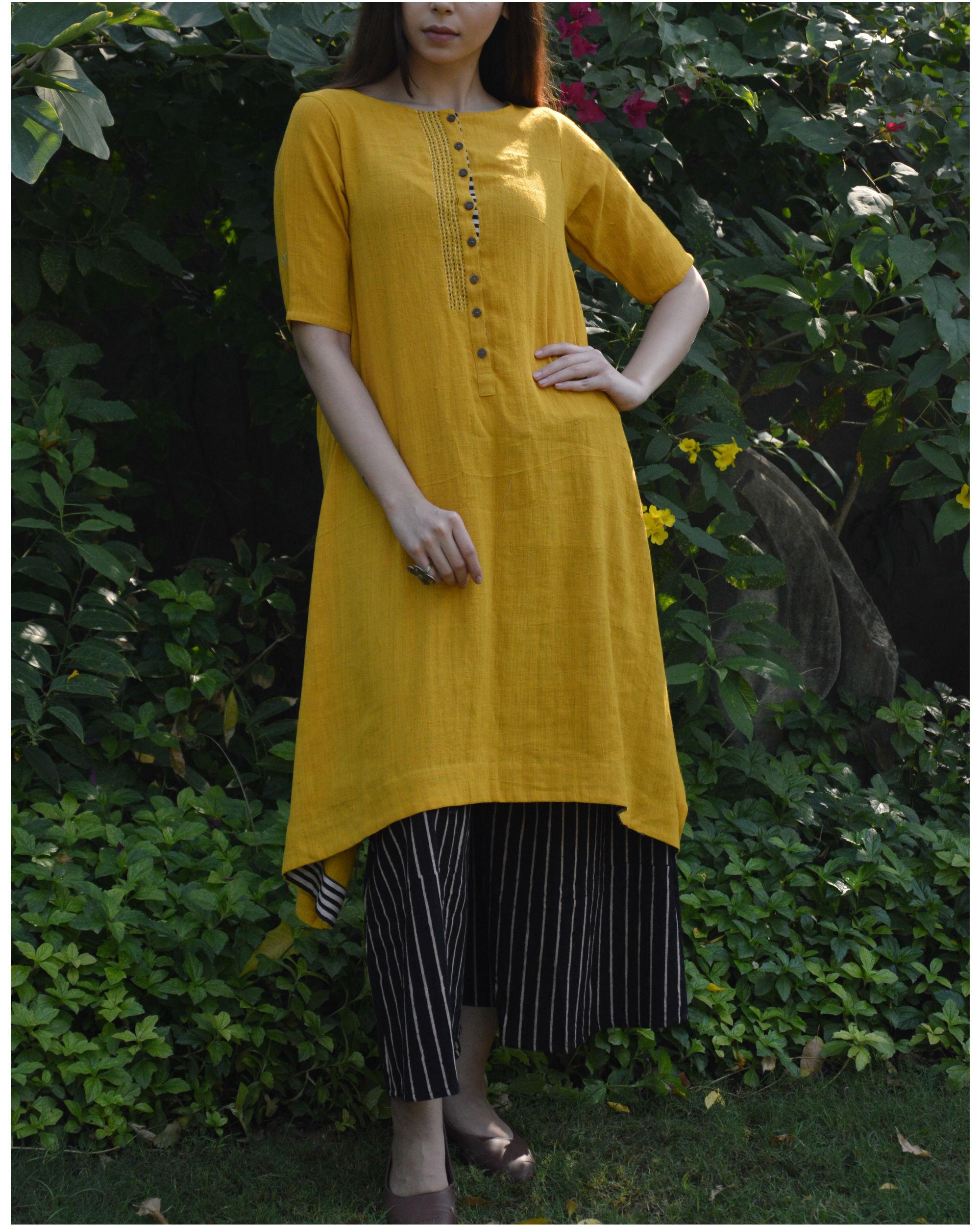 Mustard c-hem tunic