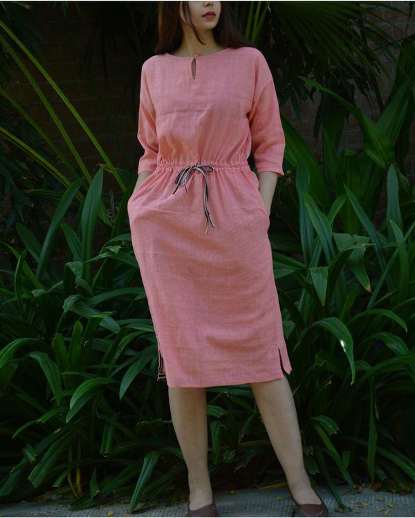Pink anti-fit tunic with drawstring waist
