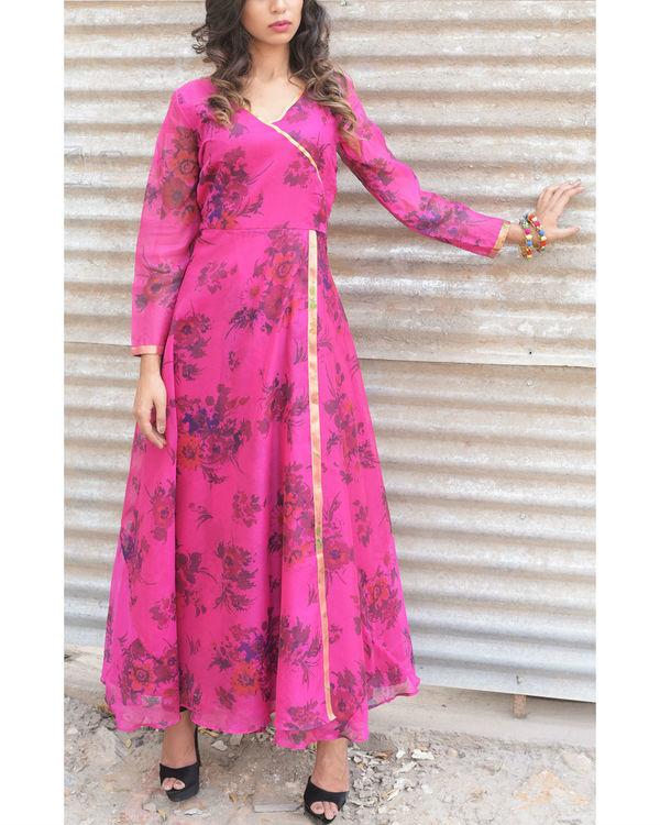 Fuscia angrakha dress