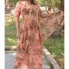 Thumb peach drape dress 3