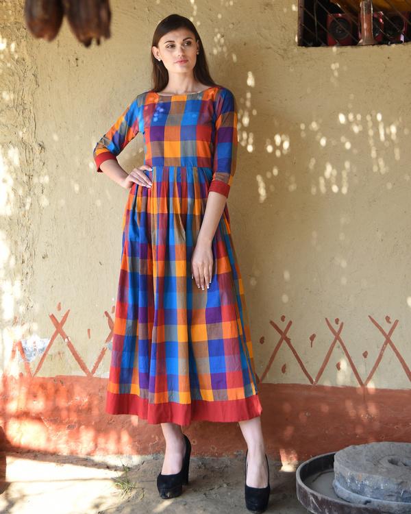 Multicolor checks dress