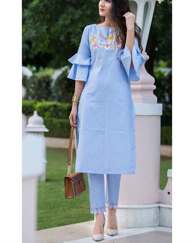 Tulip Sleeves Tunic Set