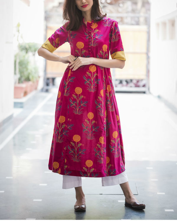 Bright & bold pink kurta