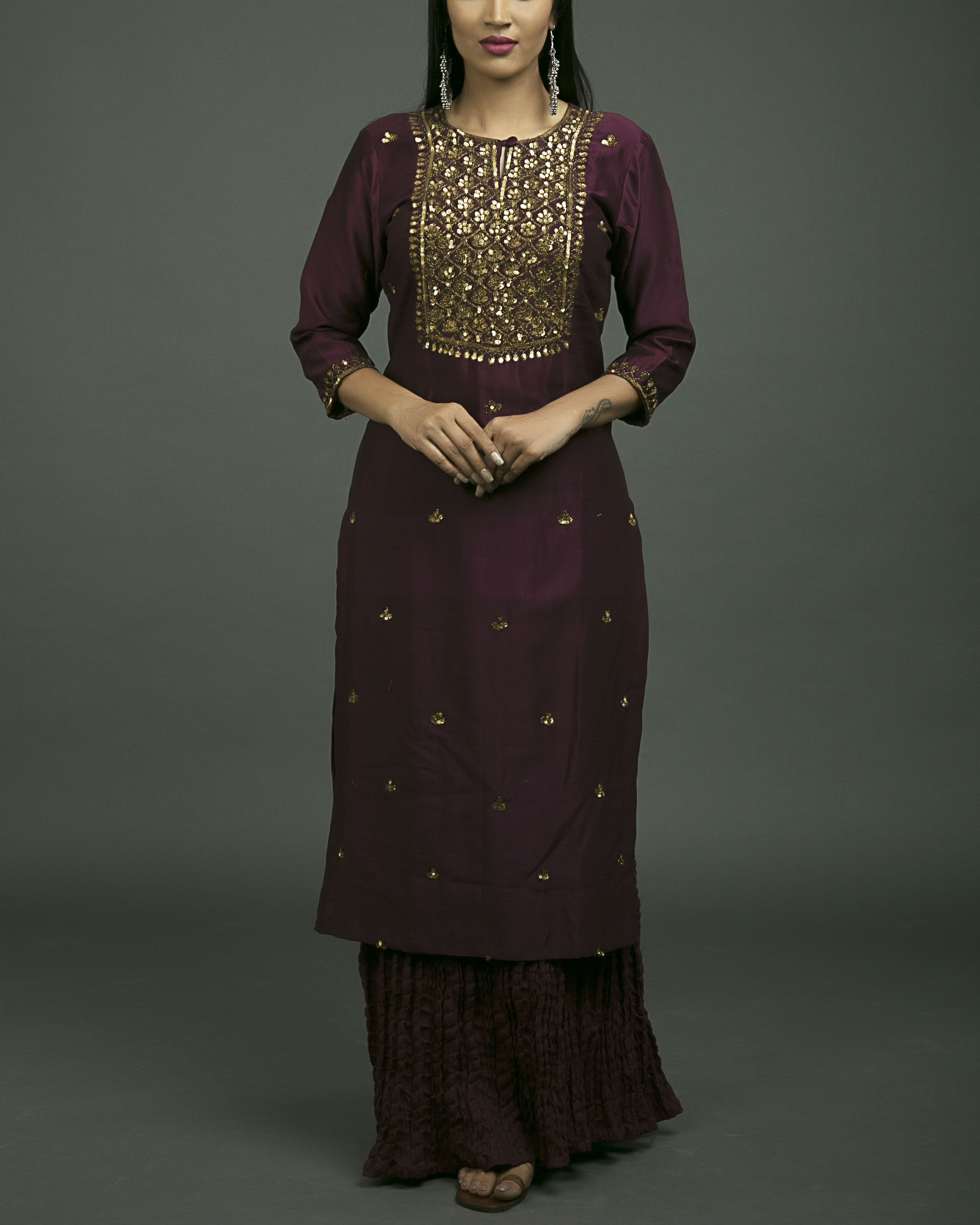 Jahanara embroidered kurta set